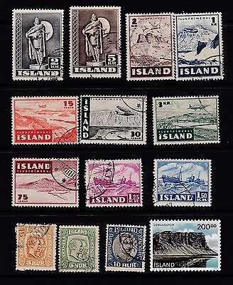 Small selection of 14 Iceland stamps