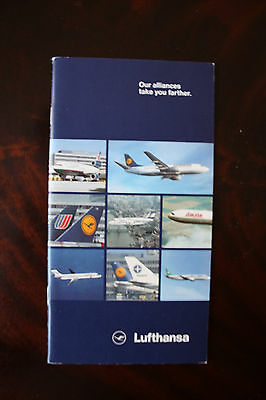 Marketing Brochure Lufthansa Our Alliances Take You Further Varig Lauda Lab Tame