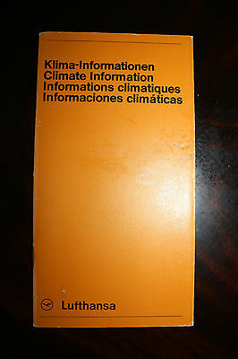 Marketing Brochure Lufthansa Klima Informationen Climate Information