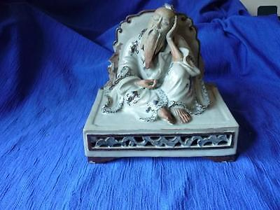 Vintage Chinese Scholar/Immortal Figurine, In the style of Mudman, Mid 20thC?