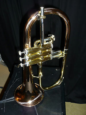 FHR100 Elkhart Flugel Horn by Vincent Bach with case and mouthpiece