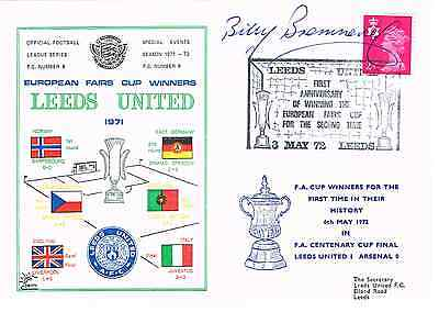 Billy Bremner Signed First Day Cover Fdc 1972 Fa Cup Leeds United Autograph