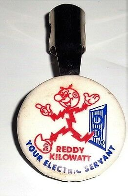 RARE Vintage Reddy Kilowatt Electric Charge Company Metal Pencil Topper