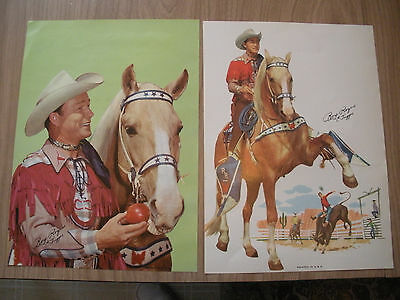 Roy Rogers & Trigger paper print/photo  Post cereal advertisement