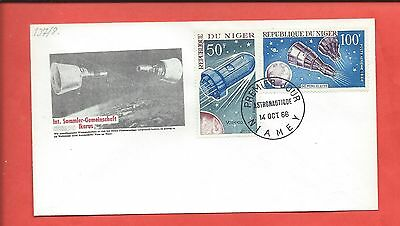 Niger stamps. 1966 Space FDC (Y336)