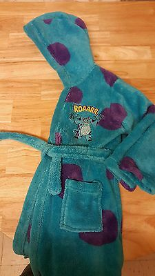 childs dressing gown bath robe 2/3years monsters inc