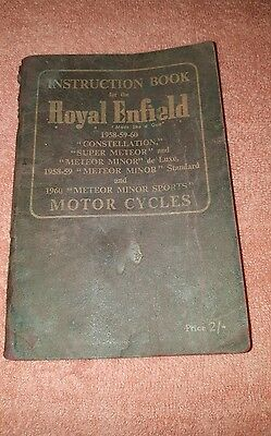 Vintage Instruction Book For The Royal Enfield 1958 / 59 / 60