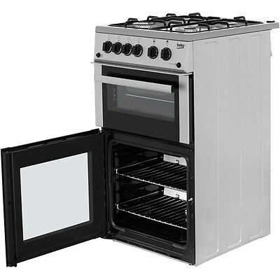 Beko double oven gas cooker (BDVG592S) nearly new