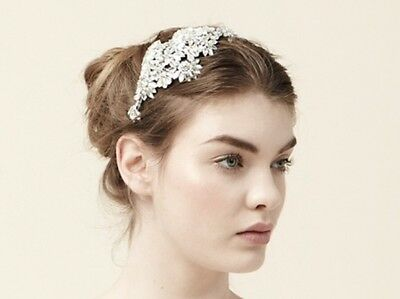 Jenny Packham Ananti Headdress II Pearl & Silver Headpiece Hair and Bridal