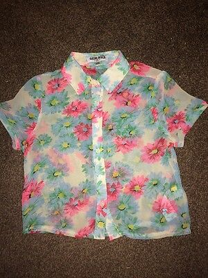Girls Floral Shirt Age 11 Years