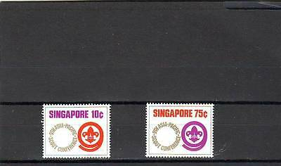 a114 - SINGAPORE - SG233-234 MNH 1974 9th ASIAN-PACIFIC SCOUT CONFERENCE