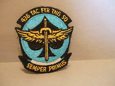 Usaf Patch - 436 Tac Ftr Tng Sq - 436Th Tactical Fighter Training Squadron