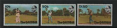 Gambia 1976 Anniv Of Independence SG 346/8 MNH
