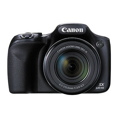 Canon PowerShot SX530 16MP Digital Camera 50x Optical Zoom Full-HD WiFi / NFC