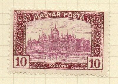Hungary 1919-20 Early Issue Fine Mint Hinged 10K. Inscribed Magyar Posta 122367