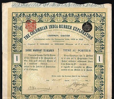 1907 Colombia: The Colombian India-Rubber Exploration Company