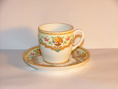 Vintage  Cauldon Coffee Cup and Saucer Hand Painted