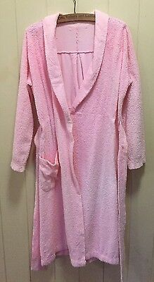 Vintage Pink Chenille Dressing Gown