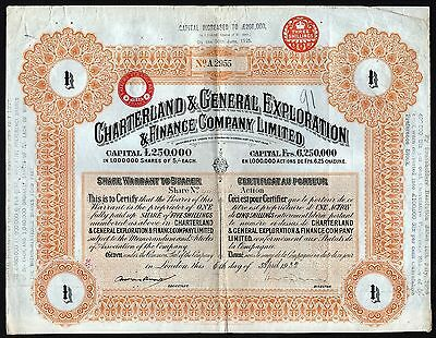 1932 South Africa: Charterland & General Exploration & Finance Company