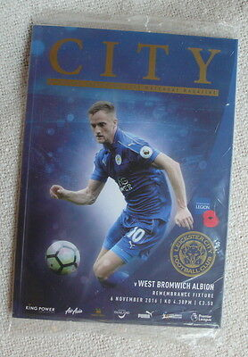 Leicester City football LCFC v West Bromwich Albion 2016 MINT programme + poster