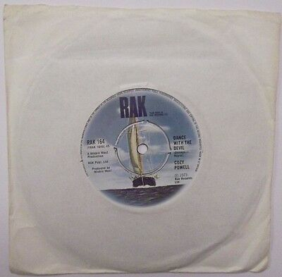 COZY POWELL ~ DANCE WITH THE DEVIL / AND THEN THERE WAS SKIN. 7in Single 45rpm.