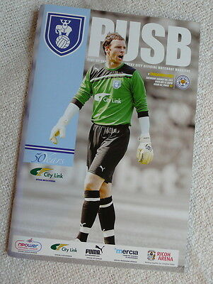Coventry City v. Leicester City football LCFC programme
