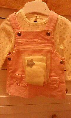 Baby girls dress with tights bnwt