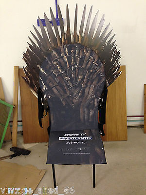 Game of Thrones Licensed Promotional Throne NowTV Sky Atlantic 83/90 Super Rare