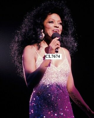 Diana Ross Performs on a Concert Photo