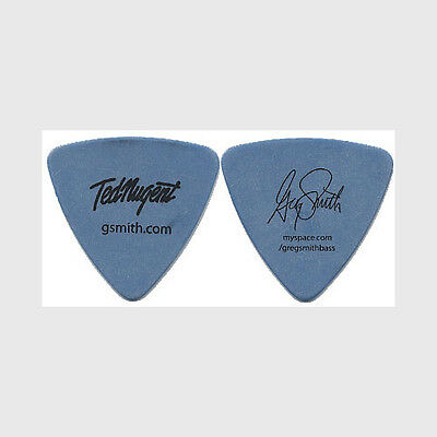 Ted Nugent Greg Smith authentic 2008 tour Guitar Pick