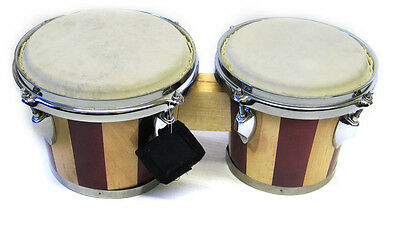 Holiday Sale Striped African Bongo Drum Set Drums 4613STP