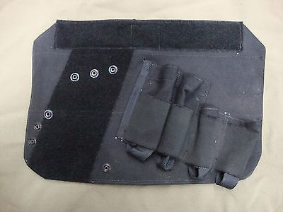 Tag E Tag W CT Vest Black Mp5 Mag' & Holster Patch Panel