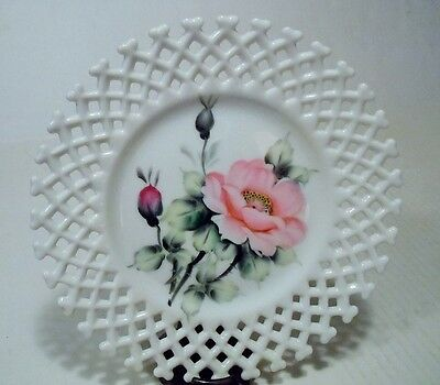 Lefton China Hand Painted Rose Decorative Plate