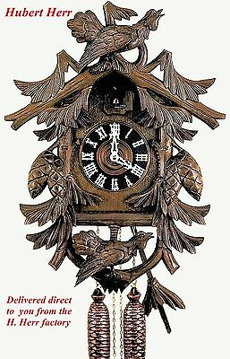 Hubert Herr,  large new  Black Forest  hand carved original style cuckoo clock.
