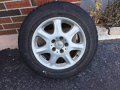 Mercedes Rims Alloy with Snow Tires off S-Class 16 inch With Goodyear Nordic