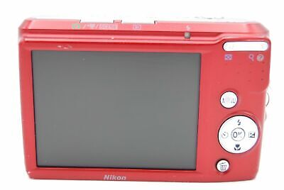 Nikon Coolpix L18 8MP 3'' SCREEN 3X DIGITAL CAMERA - RED