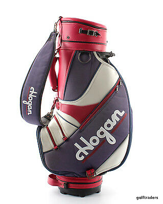 "Ben Hogan Golf Staff Bag 10"" Top Red / White / Purple No Hood - Used #d3110"