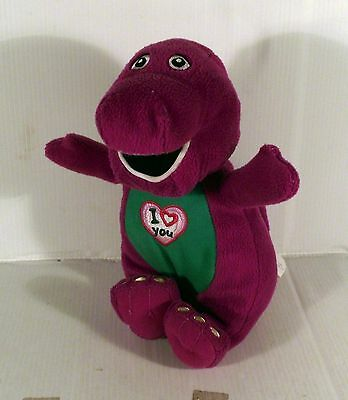 """Musical 10"""" Barney Dinosaur Soft Toy - I Love You Song"""