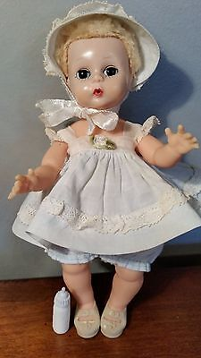 "Vintage 8"" Madame Alexander Little Genius Doll-Caracul Wig-Vogue Outfit-Ginny"