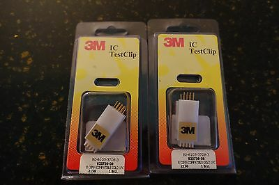 3M IC TEST CLIP 8 PIN DIP # 923739-08 - Set of 2 NEW