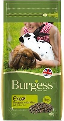 Burgess Excel Nuggets with Mint Adult Rabbit Food 2 x 10 kg **FREE DELIVERY**