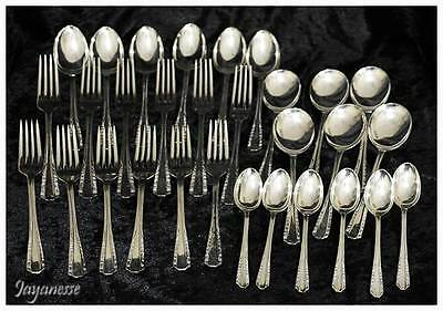 Vintage Sheffield England 30 piece EPNS silver plated cutlery set forks spoons