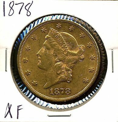 1878 G$20 Liberty Head Gold Double Eagle in XF Condition