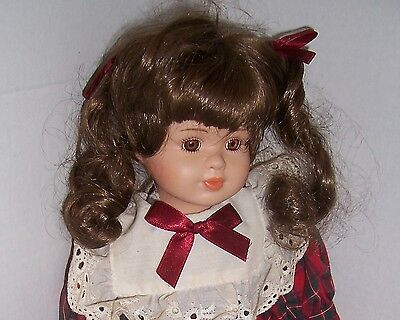 """16"""" Girl doll with ponytails"""
