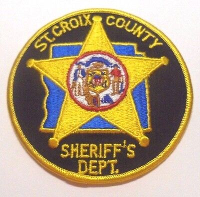 St Croix County Wisconsin Sheriff Patch Unused