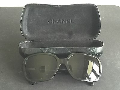 Chanel Sunglasses Women with Leather Case Authentic