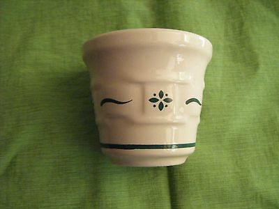 Longaberger Potter Woven Traditions~ Votive Holder~Heritage Green ~ Made in USA
