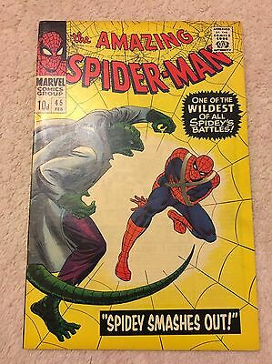 Amazing Spider-Man #45 - 3Rd Appearance Of The Lizard High Grade Vf- Marvel 1966