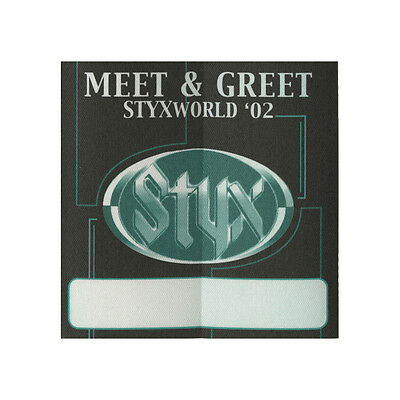 Styx authentic Meet & Greet 2002 tour Backstage Pass