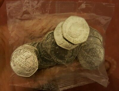 2016 (Uncirculated) 1 x Sealed Bag of 20 x Beatrix Potter 50p Coins